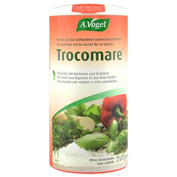 Trocomare Organic Spicy Seasoned Sea Salt 250g - A.Vogel